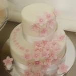 torta fiori rosa